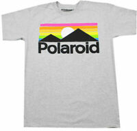 POLAROID RETRO LANDSCAPE T-SHIRT HEATHER GREY MENS PHOTOGRAPHY FILM GRAPHIC TEE