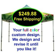 10X10 Custom Logo Printed Replacement Pop Up Canopy Party Trade Show Tent Cover