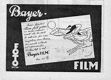 Pubblicità vintage Bayer foto film fotografia werbung old advertising reklame A4