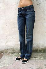 LEVIS 524 Denim Blue Jeans Stretch Straight Faded Ladies W30 L32 Uk 12 Red Tab