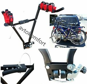 Up To 3 Bike Rear Towbar Mount Hitch 50 mm Cycle Bicycle Carrier Car Rack 45 Kg