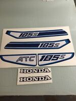 Honda 1982 82 ATC185 ATC 185 Tank Decal Set 185s ATC185s