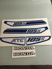 Honda 1981 81 ATC185 ATC 185 Tank & Rear Fender Decal Set 185s ATC185s