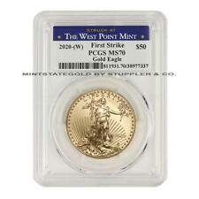 2020-(W) $50 American Gold Eagle PCGS MS70 First Strike West Point 1oz 22Kt coin