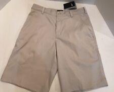 Nike Golf Dri Fit Beige Flat Front Tech Shorts Casual Dress 551808 072 Men's 32