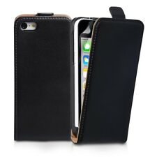 Black Protective Leather Flip Case Cover Pouch For Apple iPhone 5 SE 5G 5S