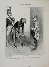 Honore Daumier (France 1808-1879) Lithograph Initialed H.D. Ma patrie, à moi?