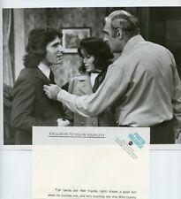 STACY NELKIN ABE VIGODA LENNY BARI FISH TV SHOW ORIGINAL 1978 ABC TV PHOTO