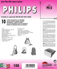 10 Sacchi Sobres Philips Compatible con Todos los Modelos Indicado en Foto