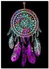 "Beautiful Dreamcatcher CANVAS ART PRINT spiritual Native Black poster 24""X16"""