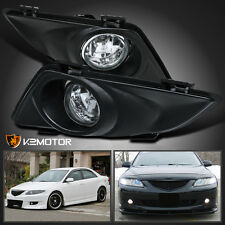 Fit 2003-2005 Mazda 6 Clear Bumper Fog Lights Driving Lamps+Switch+Bulb