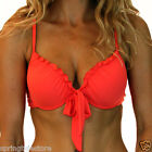 Coral Orange Zara Bikini Swimwear Separates - Push Up Top Sizes 8 10 12 14 16
