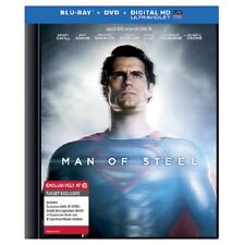 Man of Steel (Blu-ray/DVD, 2013, 2-Disc Set, Includes Digital Copy UltraViolet)