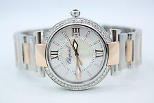 CHOPARD IMPERIALE TWO TONE 18K ROSE GOLD SS DIAMOND ENCRUSTED WATCH 388532-6002