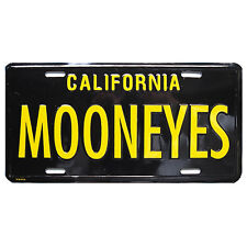 Black Mooneyes Show License Plate VW T 1 Beetle T 2 Split Screen Bay T 3 Ghia Rod