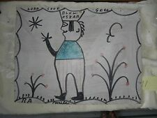 RA Miller  FOLK ART     BLOW OSCAR  Signed  painting  Outsider     #11