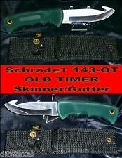 "Schrade 143OT Knife W/Lanyard Hole ""Blade Runner"" 9-1/2"" W/Black Canvas Sheath"