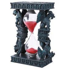 Mythical Fantasy Guardian Stone Double Gargoyle Sandtimer Hourglass Design