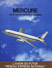 PUBLICITE ADVERTISING 064 1971 AVIONS MARCEL DASSAULT Mercure court courrier