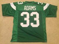 UNSIGNED CUSTOM Sewn Stitched Jamal Adams Green ERROR Jersey - M, L, XL, 2XL