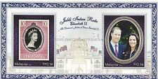 [SS] Malaysia 2012 Diamond Jubilee Queen Elizabeth Prince William M/S