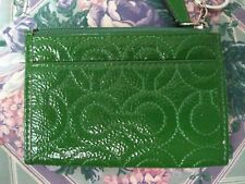 Coach Gramercy Embossed Signature Patent Leather Mini Skinny Coin Purse Pink