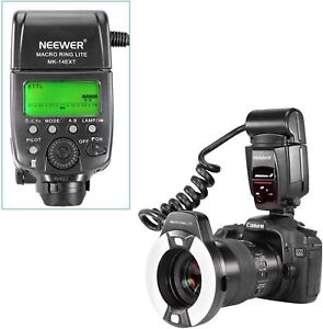 Neewer Macro TTL Ring Flash Light with AF Assist Lamp for Canon E-TTL TTL Camera