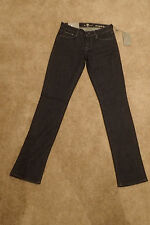 NWT 7 Seven For All Mankind Classic Straight Leg Dark Blue Jeans in size 24 x 33