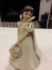 LENOX Disney SNOW WHITE FLOWERS sculpture beautiful piece was used for display
