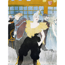 Toulouse-Lautrec Clowness Moulin Rouge Extra Large Art Poster