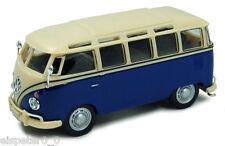 VW T1 Samba Bus Blue/white Cararama Car Model 1 43