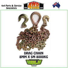 HULK 4x4 DRAG CHAIN WITH HOOKS RECOVERY KIT TOW WINCH 4WD 4X4
