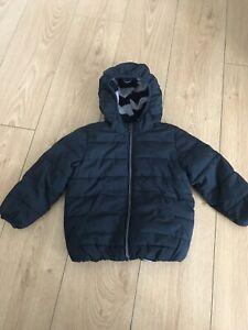 Next Boys Toddler Kids Navy Puffer Jacket Coat Fleece Lined 2-3 Years