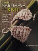 Beaded Bracelets to Knit, Leisure Arts Paperback Book, Create 15 Bracelets