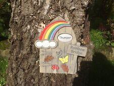 Personalised Rainbow Bridge Woodland Memorial Stone Door  Outline Design Garden