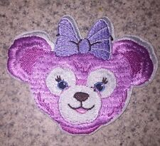 DISNEY DUFFY BEAR SHELLIE MAY PINK WITH BOW PATCH APPLIQUE IRON ON