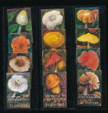 Pilze, Motiv-Satz mit 12 Marken aus Grenadins + St.Vincent, postfrisch,  (MO3)