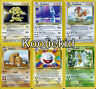 ORIGINAL BASE 1 & 2 - FOSSIL - JUNGLE - ROCKET Non-Holo RARE Pokemon Cards TCG