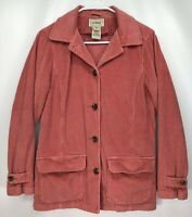 Women's EXTRA SMALL - Pink LL Bean Barn Coat Jacket w/ Removable Quilted Liner