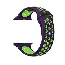 Apple Watch Pulsera Correa Sport 42mm silicona serie 1  2 3 4 Violeta/Verde