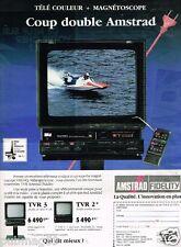 Publicité advertising 1988 Hi-Fi Téléviseur magnetoscope Amstrad