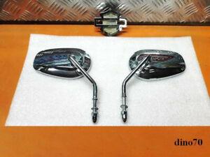 Harley Davidson coppia specchietti cromati originali completi multi fit