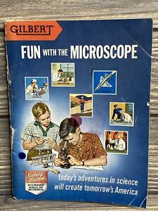Vintage Gilbert Science Book Fun With The Microscope 1938 Paperback