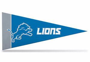 "Detroit Lions  NFL Mini Pennant 9""x4"", New, Felt, Made in USA  Banner"