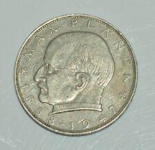 Germany 1962 Max Planck  2 deutsche mark  copper-nickel circulated coin