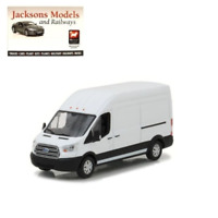 Greenlight 86083 2017 Ford Transit Extended Van High Roof White 1:43 Scale Model