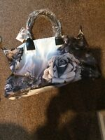 Ted Baker Mono Rose Nylon Large Zip Tote/Overnight Bag, New With Tags