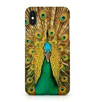 Green Angry Peacock Feathers Pattern Cool Flamingo Bird Animal Phone Case Cover