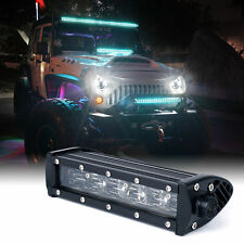 "Xprite C8 Series 36W 8"" Double Row LED Spot Light Bar with Blue Back Light"