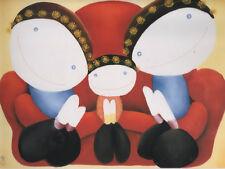 "MACKENZIE THORPE Family Characters Mounted Art Print Wall Decor 15"" x 13"""